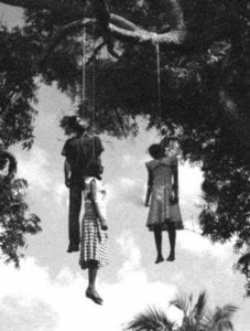 Hate black man hanging