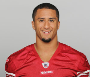 SAN FRANCISCO, CA - CIRCA 2011: In this handout image provided by the NFL, Colin Kaepernick of the San Francisco 49ers poses for his NFL headshot circa 2011 in San Francisco, California. (Photo by NFL via Getty Images)
